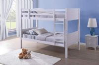 Layla White Wooden Bunk Bed